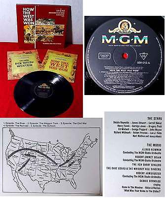 1LP Box How The West was won (MGM 009 010) w/ 2 Souvenir Booklets