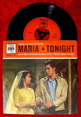 Single West Side Story Maria Tonight Original Soundtrac