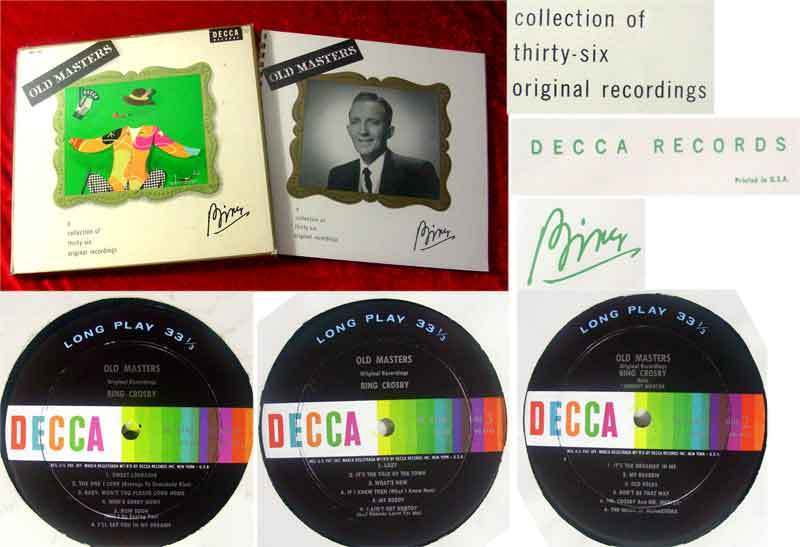 3LP Box Bing Crosby: Old Masters with Booklet