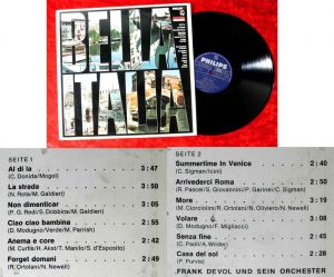 LP Frank DeVol: Bella Italia (Philips 843 511 PY) D 1966