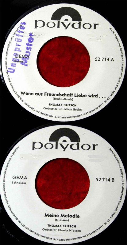 Single Thomas Fritsch: Wenn aus Freundschaft Liebe wird... (Polydor 52 714) D 66