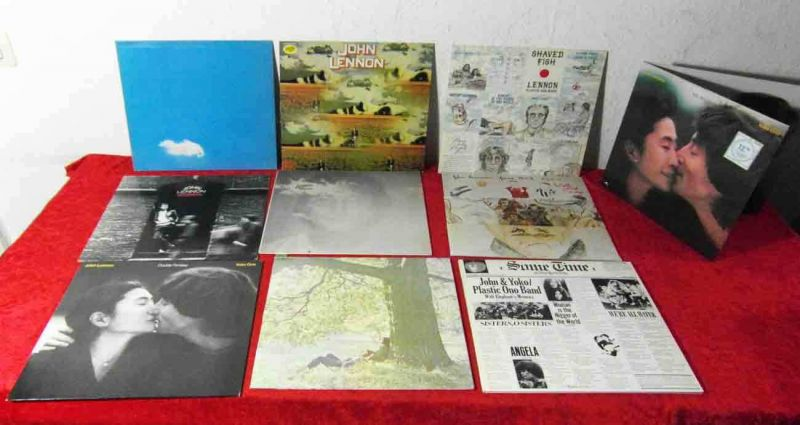 11 Langspielplatten JOHN LENNON - Vinylsammlung -