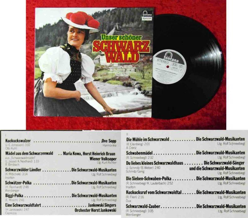 LP Unser schöner Schwarzwald (Fontana 6434 227) D Promo
