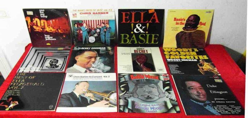 75 Langspielplatten JAZZ & SWING - Vinylsammlung- von Barber bis Ellington