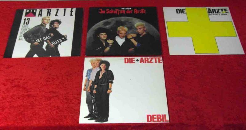 4 Langspielplatten von Die Ärzte - Vinylsammlung -