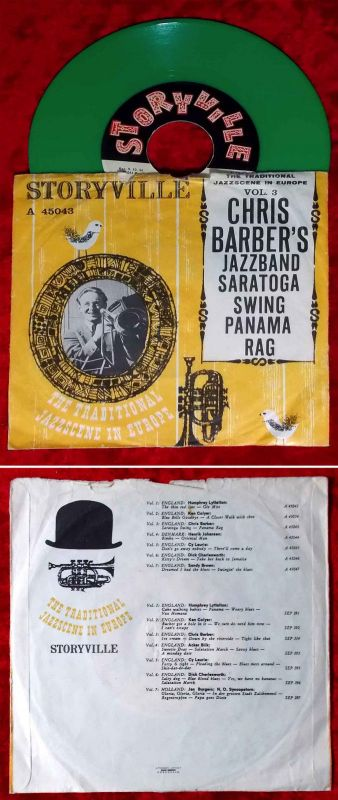 Single Chris Barber´s Jazzband: Saratoga Swing (Storyville A 45043) Green Vinyl