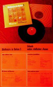 LP Rosy Singers: Weltreise in Noten 3 (BASF CRD 067) D