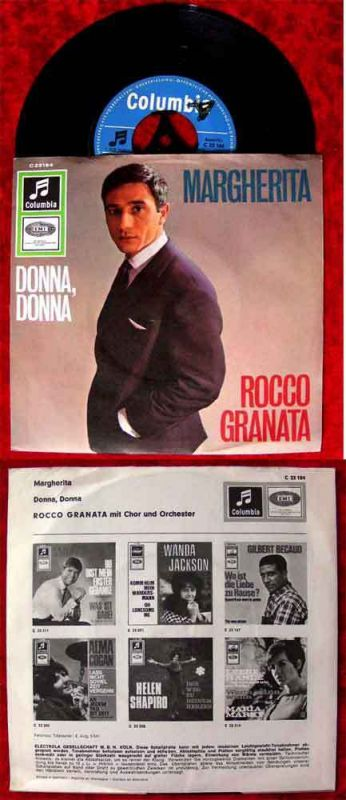 Single Rocco Granata: Margherita (Columbia 23 184) D