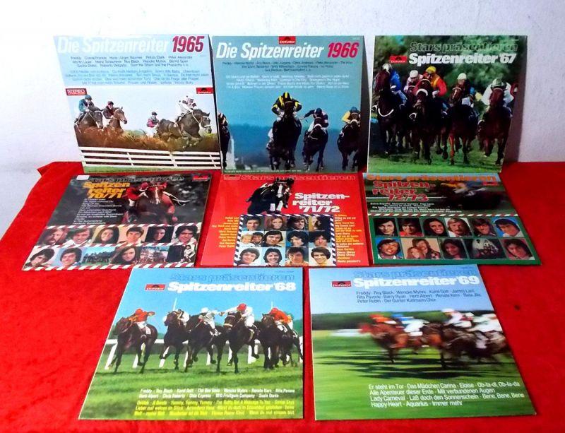 8 Langspielplatten der Polydor Serie