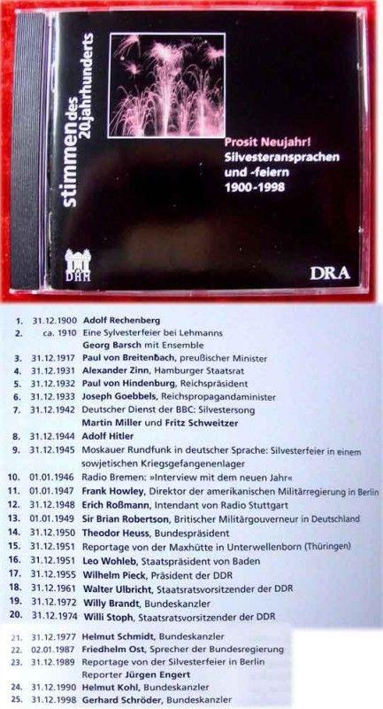 CD Stimmen des Jahrhunderts Prosit Neujahr Silvesterans