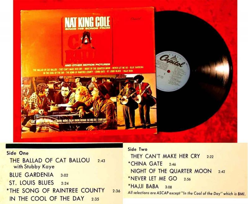 LP Nat King Cole: Sings The Songs from Cat Ballou (Capitol SM-11804) US