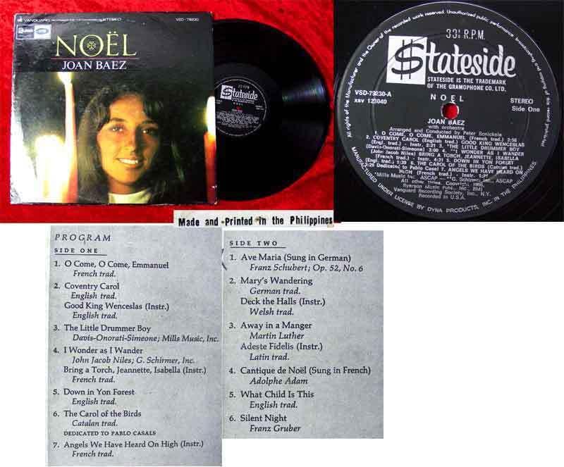 LP Joan Baez. Noel