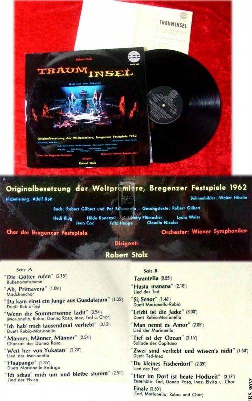 LP Trauminsel Weltpremiere Bregenzer Festspiele 1962