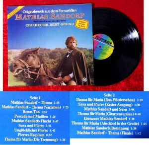 LP Mathias Sandorf - TV Mehrteiler - Bert Grund (Telefunken 624178 AS) D 1983
