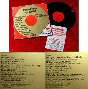 LP Rotation in Gold Stars und Unterhaltung Peter Alexan