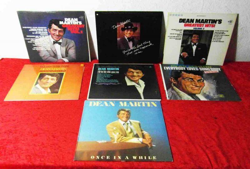 7 Langspielplatten von DEAN MARTIN - Vinylsammlung -