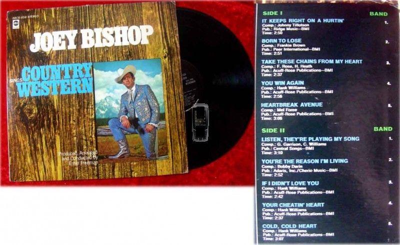LP Joey Bishop Sings Country and Western (Rat Pack)