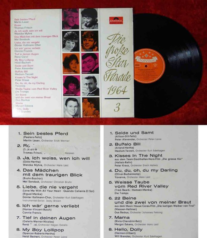LP Große Star Parade 1964/3 (Polydor Stereo 237 382)