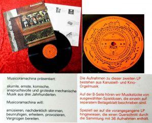 LP Musicoramachina 2 - Musikautomaten - Karussell- und Kino-Orgeln - Spieldosen
