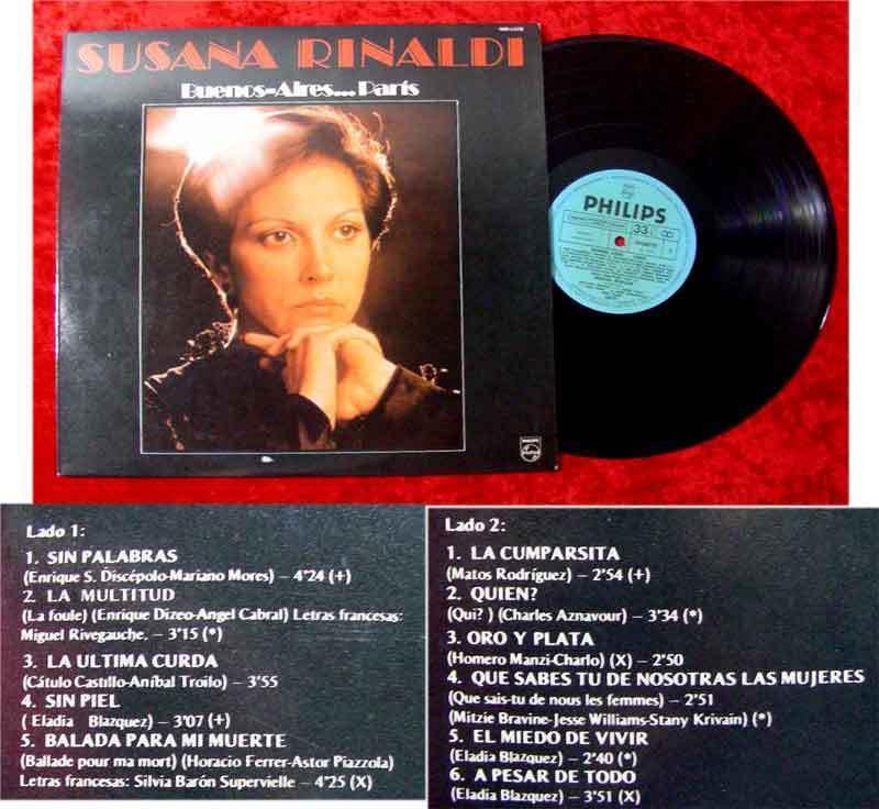 LP Susana Rinaldi: Buenos Aires....Paris (1979)
