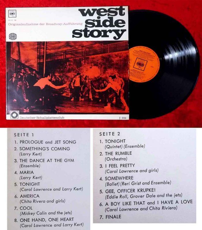 LP West Side Story - Deutscher Schallplattenclub J 011