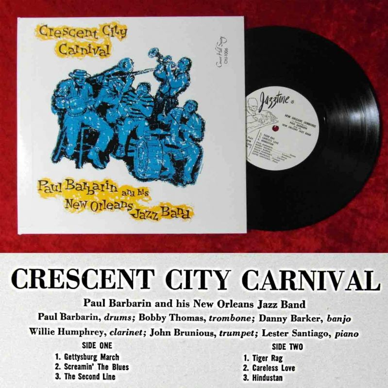 25cm LP Paul Barbarin & His New Orleans Jazz Band: Crescent City Carnival / US
