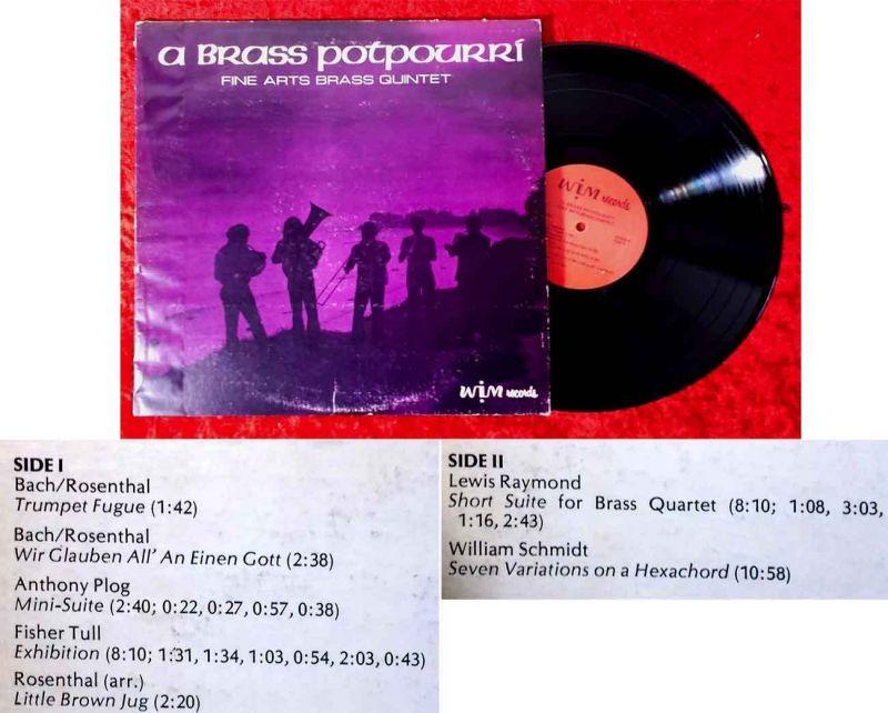 LP Fine Arts Brass Quintet: A Brass Potpourri (WIM-R4) US