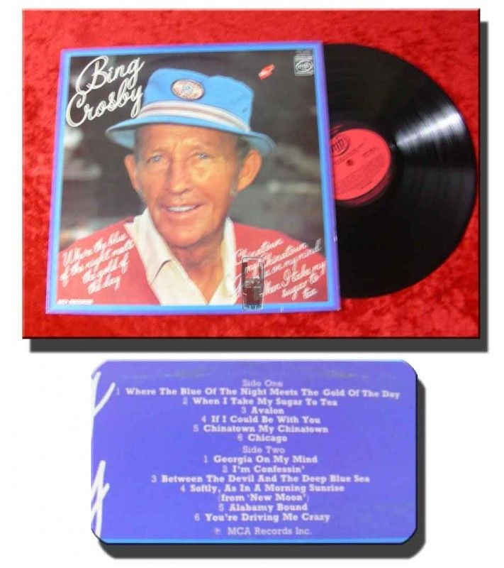 LP Bing Crosby: Where the blue of the night meets the..