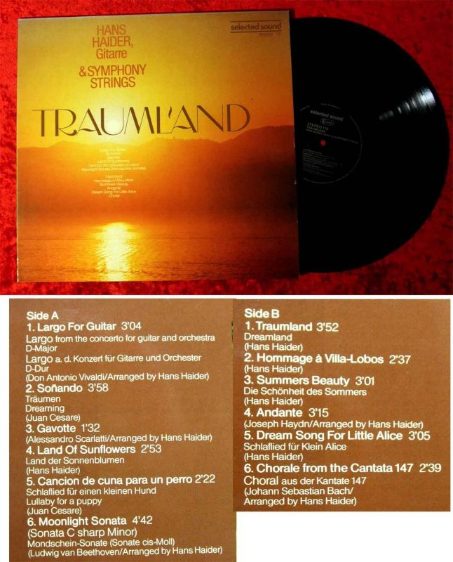LP Hans Haider & Symphony Strings: Traumland (Selected Sound 110) D 1977