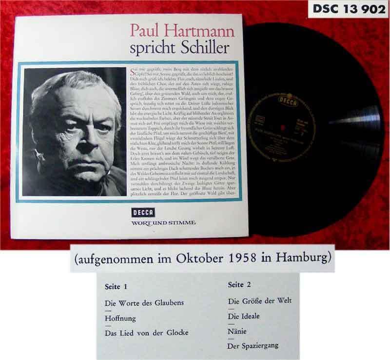 LP Paul Hartmann spricht Schiller