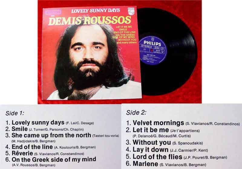 LP Demis Roussos: Lovely Sunny Days