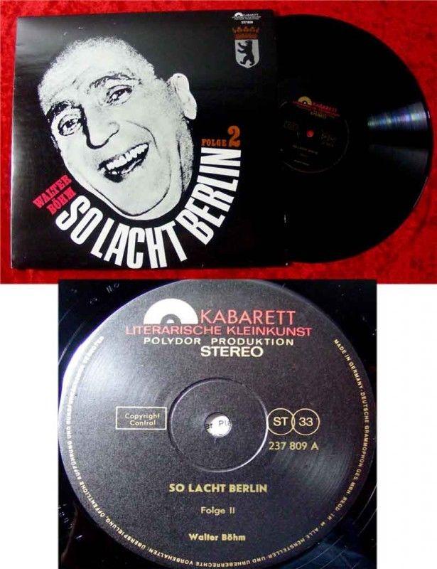 LP Walter Böhm So lacht Berlin Folge 2