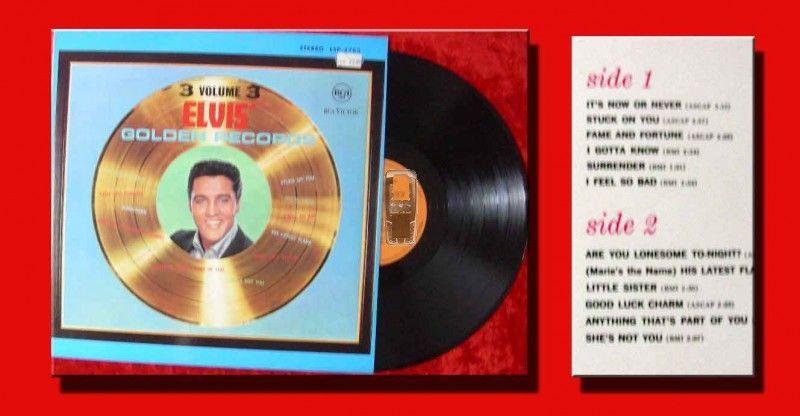 LP Elvis Presley: Elvis'Golden Records Vol. 3