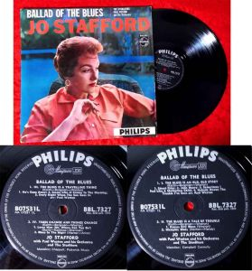 LP Jo Stafford: Ballad of the Blues (Philips BBL 7327) UK