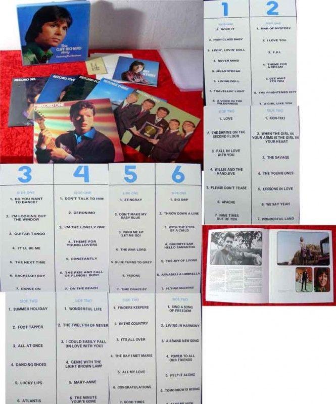 6LP Box Cliff Richard Story mit Booklet World Records