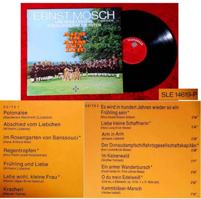 LP Ernst Mosch & Orig. Egerländer Musikanten: Arm in Arm mit Dir (Telefunken) D