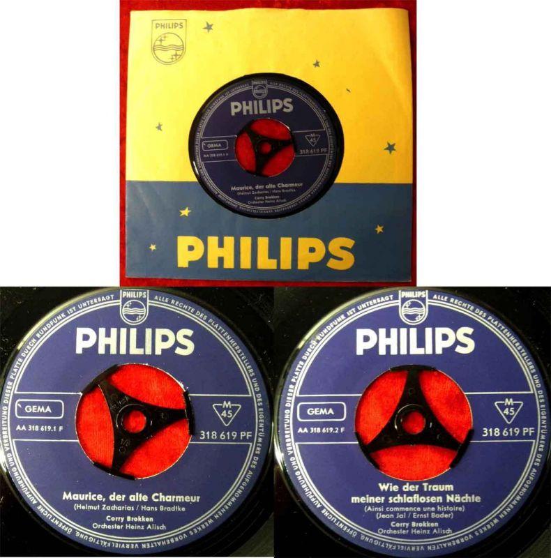 Single Corry Brokken: Maurice, der alte Charmeur (Philips 318 619 PF) D