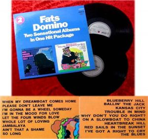 2LP Fats Domino Two Sensational Albums in One Hit Packa