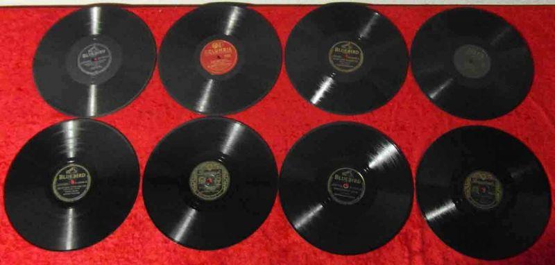 8 Original 78er Schellackplatten  CHARLIE BARNET / BOB CROSBY / WILL BRADLEY