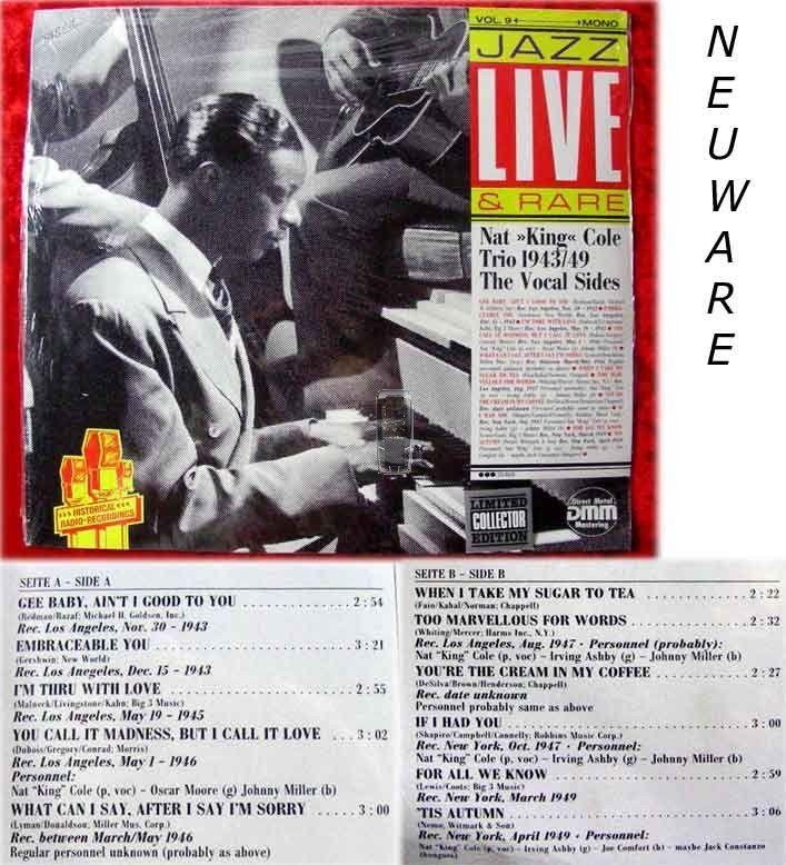 LP Nat King Cole Trio 1943/49 The Vocal Sides (OVP)