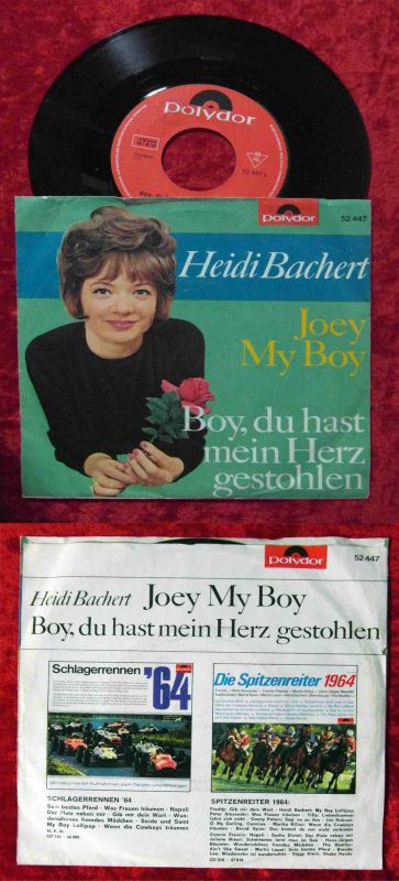 Single Heidi Bachert: Joey My Boy (Polydor 52 447) D 1965 Musterplatte