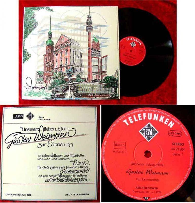 LP Gustav Weimann zur Erinnerung AEG Telefunken 1976
