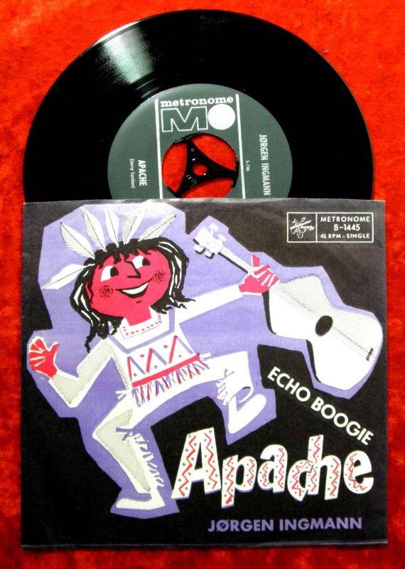 Single Joergen Ingmann: Apache / Echo Boogie (Metronome B-1445) D
