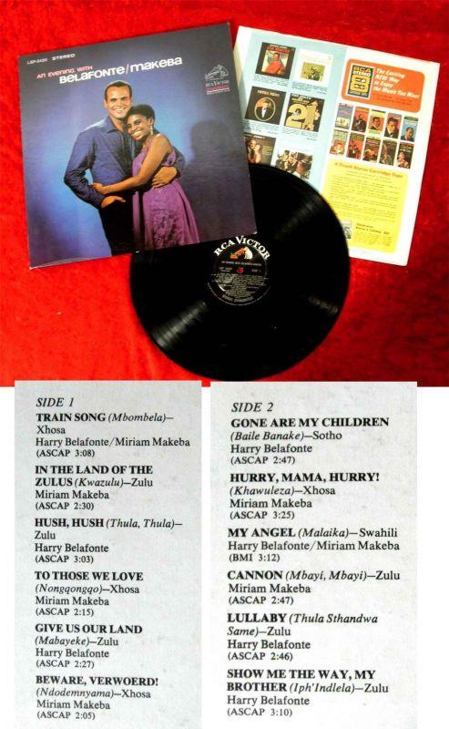 LP Harry Belafonte & Miriam Makeba: An Evening with Belafonte/Makeba (RCA) US