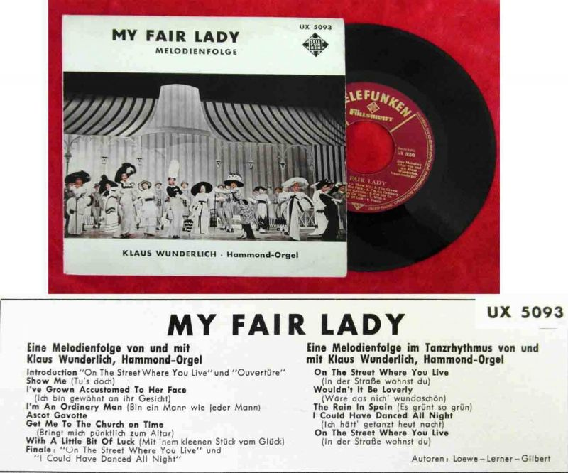ep klaus wunderlich my fair lady telefunken ux 5093 d nr 372431412354 oldthing diverses. Black Bedroom Furniture Sets. Home Design Ideas