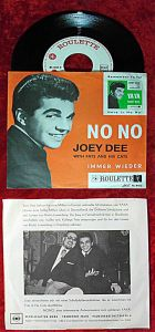Single Joey Dee w/ Fats and His Cats: No No / Immer wieder (Roulette RL 4413) D