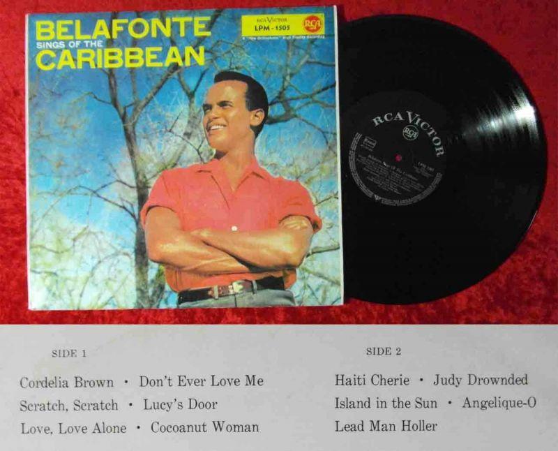 LP Harry Belafonte: Sings of the Caribbean (RCA LPM-1505) D 1957