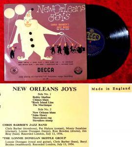 25cm LP Chris Barber & Lonnie Donegan: New Orleans Joys  (Decca LF 1198) UK 1957