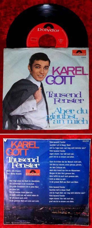 Single Karel Gott: Tausend Fenster (Polydor 53 016) D 1968 / Musik: Udo Jürgens