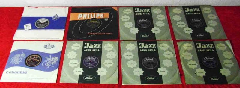 8 Original 78er Schellackplatten  LES PAUL & MARY FORD / CLYDE MCCOY usw....